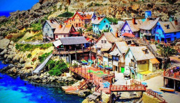 Malta en familia. Popeye Village