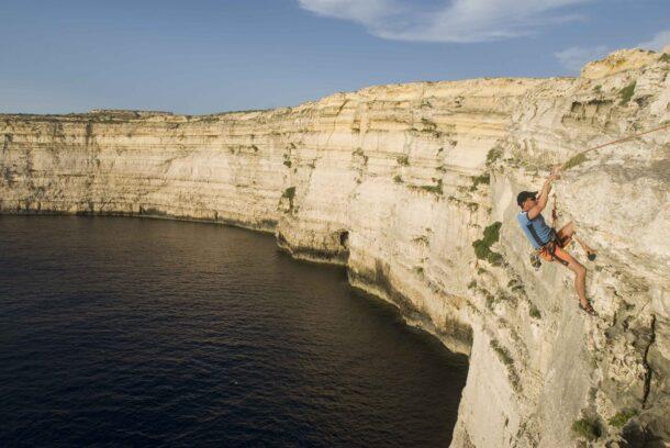Escalador en Malta