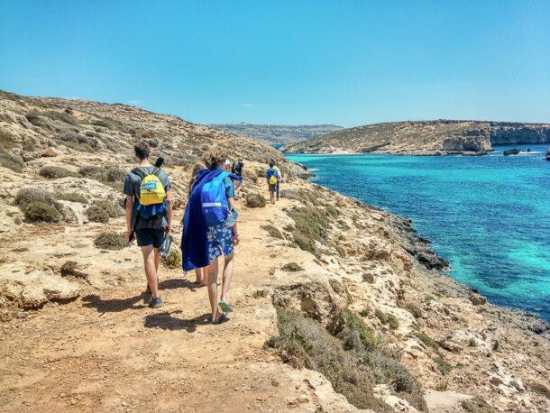 Senderismo en Comino, Malta